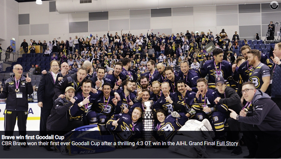 Brave win first Goodall Cup